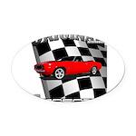 Musclecar 1969 Top 100 Oval Car Magnet