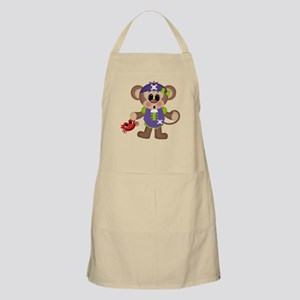 pirate monkey with crab Apron