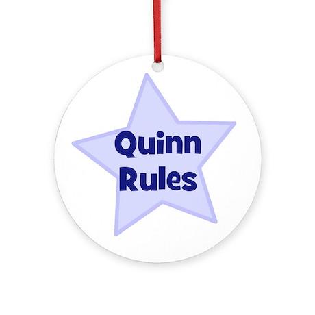 Quinn Rules Ornament (Round)