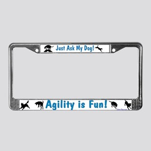 Agility is Fun License Plate Frame