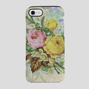 Beautiful Vintage rose design iPhone 7 Tough Case