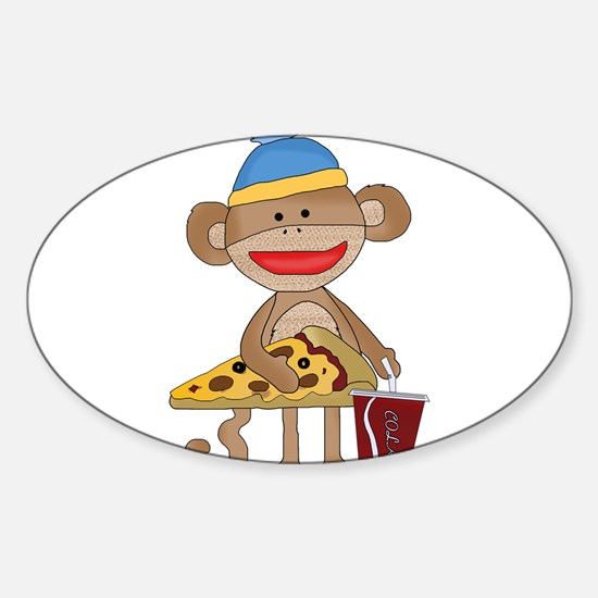 Funny Pizza Sticker (Oval)