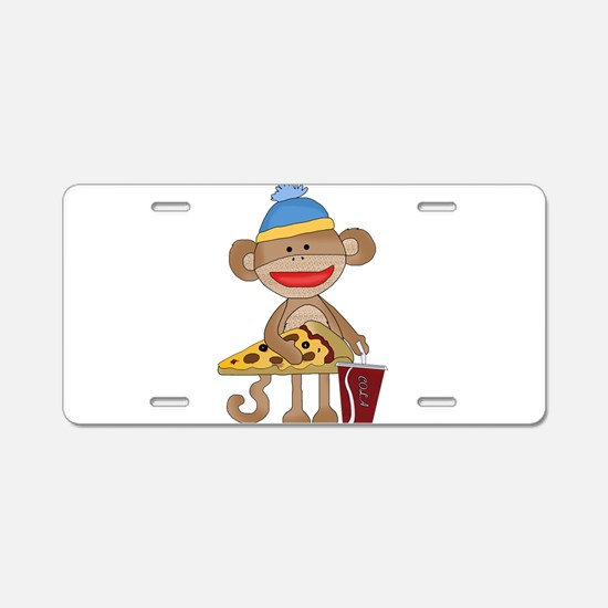 Cute Sock monkeys Aluminum License Plate