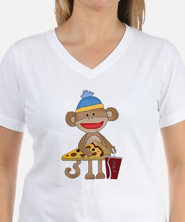Sock Monkey snack time T-Shirt
