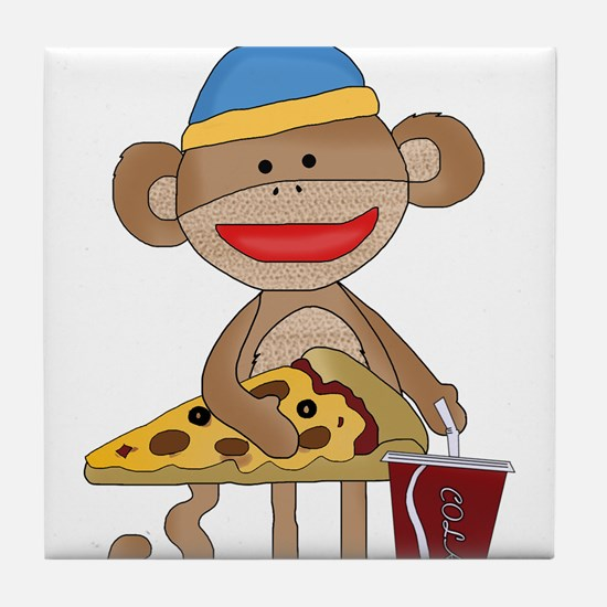 Unique Sock monkey Tile Coaster
