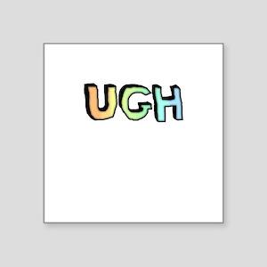 Rainbow Gradient 'UGH' Sticker
