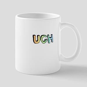 Rainbow Gradient 'UGH' Mug