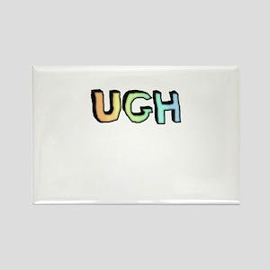 Rainbow Gradient 'UGH' Rectangle Magnet