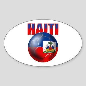 Haitian Football Sticker (Oval)