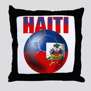 Haitian Football Throw Pillow