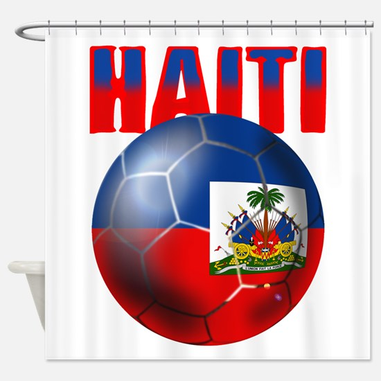 Haitian Football Shower Curtain