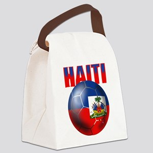 Haitian Football Canvas Lunch Bag