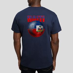 Haitian Football Men's Fitted T-Shirt (dark)