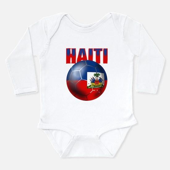 Haitian Football Long Sleeve Infant Bodysuit
