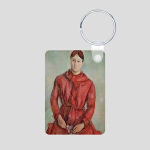 ne in a Red Dress, c.1890 (oil on canvas) - Alumin