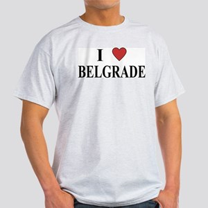 I Love Belgrade Ash Grey T-Shirt