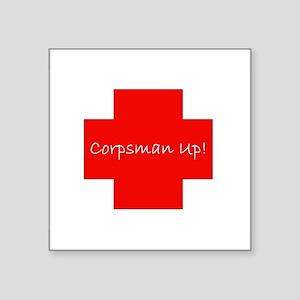 Corpsman Up Cross Sticker