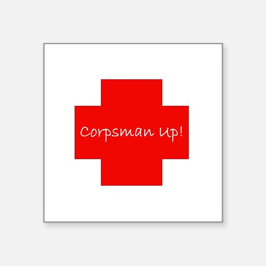 Corpsman Up Cross Sticker