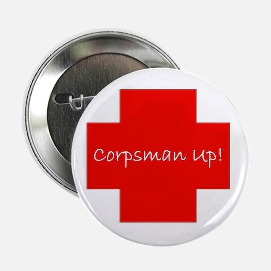 """Corpsman Up Cross 2.25"""" Button"""