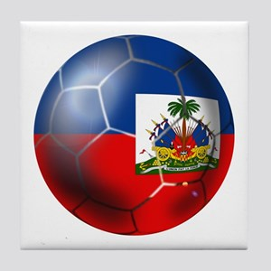 Haiti Soccer Ball Tile Coaster