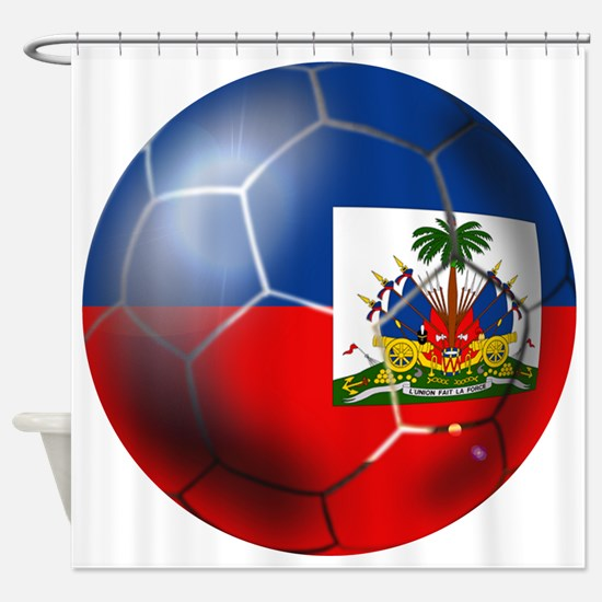 Haiti Soccer Ball Shower Curtain