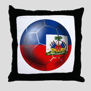 Haiti Soccer Ball Throw Pillow