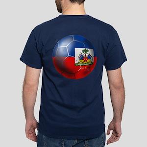 Haiti Soccer Ball Dark T-Shirt