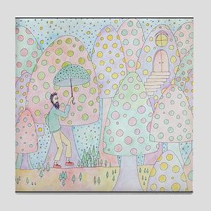 santos in shroom land Tile Coaster