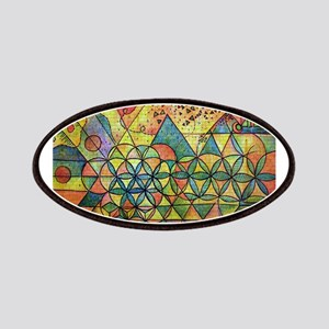 flower of life in abstract Patches