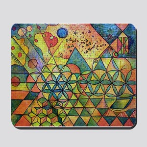 flower of life in abstract Mousepad