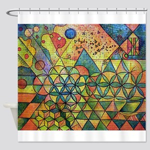 flower of life in abstract Shower Curtain