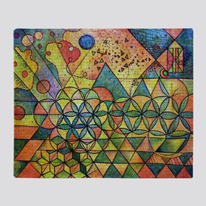 flower of life in abstract Throw Blanket