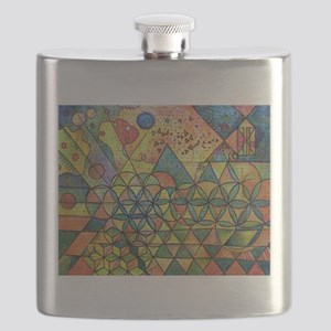 flower of life in abstract Flask
