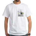 Church Kiss Pocket Area White T-Shirt