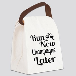 Run Now Champagne Later Canvas Lunch Bag