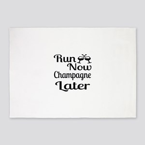 Run Now Champagne Later 5'x7'Area Rug