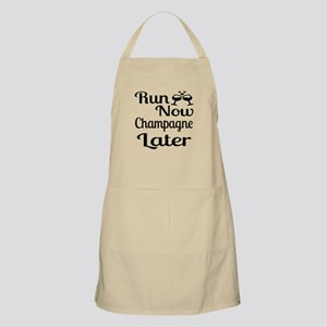 Run Now Champagne Later Light Apron