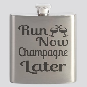Run Now Champagne Later Flask