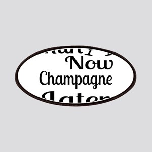 Run Now Champagne Later Patch