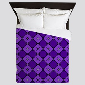 Purple Diamond Pattern Queen Duvet