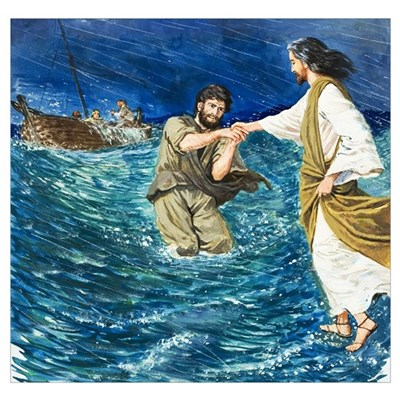 The Miracles of Jesus: Walking on Water Poster