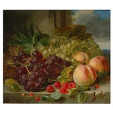 Still Life with Fruit, 1862 Poster