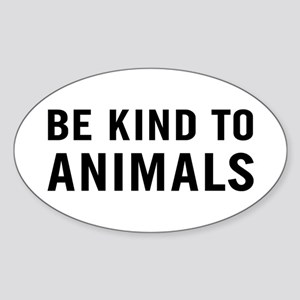 Be Kind Animals Sticker (Oval)