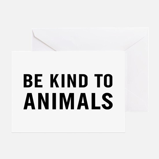 Be Kind Animals Greeting Card