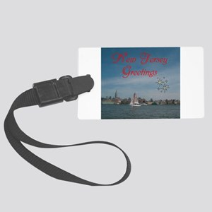 NEW JERSEY GREETINGS. RED. Luggage Tag