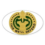 Drill Sergeant Sticker (Oval)