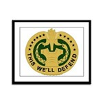 Drill Sergeant Framed Panel Print