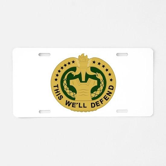 Drill Sergeant Aluminum License Plate