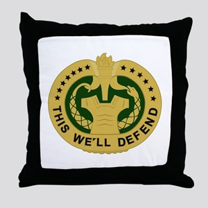 Drill Sergeant Throw Pillow