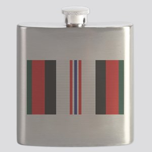 Afghanistan campaign ribbon Flask